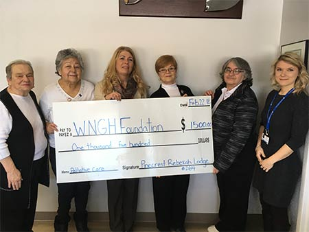 Pinecrest Rebekah Lodge #264 Sturgeon Falls donation
