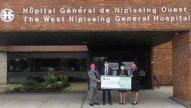 COMMUNIQUÉ DE PRESSE: La Caisse Alliance fait un don important envers le tomodensitomètre (CT scanner) de l'Hôptal général de Nipissing Ouest